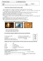 English Worksheet: A Christmas Carol: Reading Exam