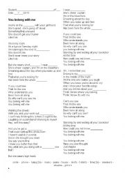 English Worksheet: Song - You belong with me (Taylor Swift)