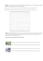 English Worksheet: worksheet geographical features children games