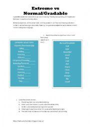 English Worksheet: Extreme Adjectives