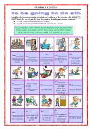 English Worksheet: GRAMMAR REVISION - be going to do sth