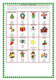 English Worksheet: CULTURE - CHRISTMAS taboo cards
