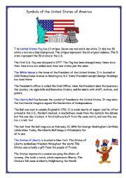 English Worksheet: Symbols of the United States of America