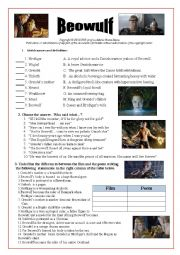English Worksheet: Beowulf movie /Video-session