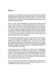 writing illiteracy essay