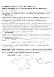 English Worksheet: Teach Writing with institutions includes exam prepares for IELTS and Essay