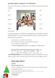 English Worksheet: MODERN FAMILY 3x10