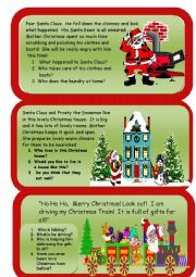 English Worksheet: Christmas Reading and Writing Comprehension worksheet 2