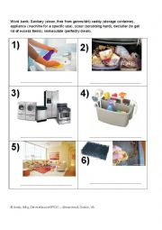 English Worksheet: Cleaning the House