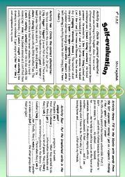 English Worksheet: self-evaluation