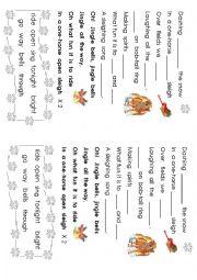English Worksheet: Jingle bells song