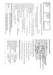English Worksheet: 2nd written exam for the 9th grade