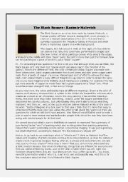 English Worksheet: The Black Square