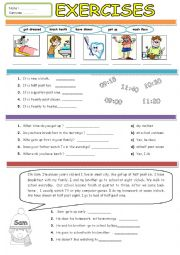 English Worksheet: Exercises for 5th Graders TWO PAGES