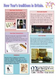 English Worksheet: new year traditions in GB