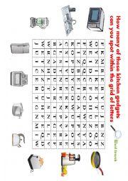 English Worksheet: Kitchen gadgets