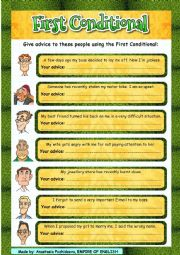English Worksheet: First Conditional for giving advice + video