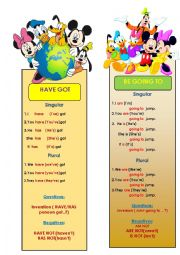 English Worksheet: have got, be going to