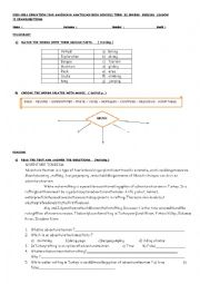 English Worksheet: exam for 12th grade