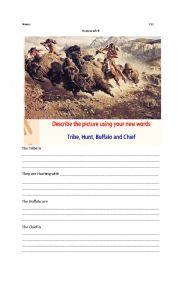 English Worksheet: Native Americans Vocabulary