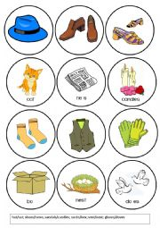 English Worksheet: Clothes Pronunciation Game - Words that Rhyme with (2/4)