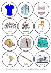 English Worksheet: Clothes Pronunciation Game - Words that Rhyme with (3/4)