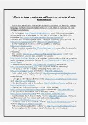 English Worksheet: List of useful websites, games and activities ultimate edition 2015 -8 pages, more than 200 links with 40 new ones-