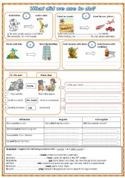 English Worksheet: Used to for Past Habits