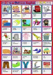 English Worksheet: American or British English