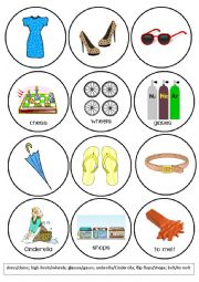 English Worksheet: Clothes Pronunciation Game - Words that Rhyme with (4/4)