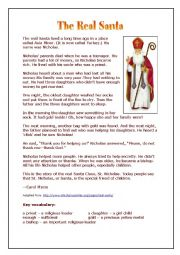 Saint Nicholas - a simple introduction (past simple)