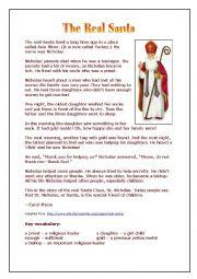 English worksheet: Saint Nicholas - a simple introduction (past simple)