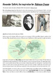 English Worksheet: Alexander Selkirk, the real story that inspired