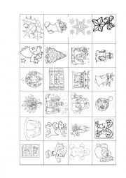 English Worksheet: DIY Create your Advent calendar