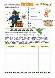 Story-writing - PRE_WRITING activities