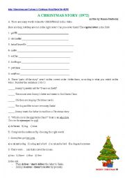 English Worksheet: A Christmas Story (1972)