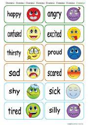 English worksheets: Feelings worksheets, page 16