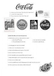 English Worksheet: Animated history of Coca-Cola
