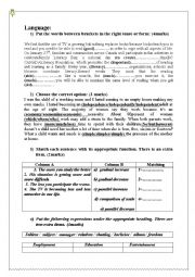 English Worksheet: listening test n�2