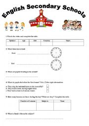English Worksheet: Third Hour Activity 8th Form Basic Education- English Secondary Schools