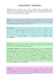 English Worksheet: How to write a composition