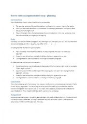 argumentative essay lesson plans esl