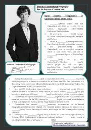 English Worksheet: Benedict Cumberbatch and degrees of comparison
