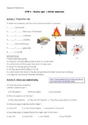 English Worksheet: Bonfire Night - a British celebration