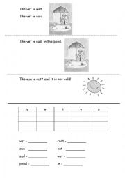 easy story practice for short vowel sounds