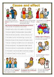 English worksheet: Cause and effect.