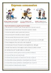 English Worksheet: Express concession