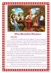English Worksheet: The Scarlet Flower