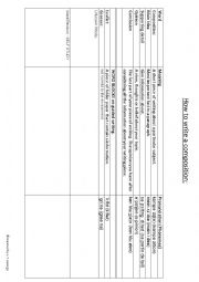 English Worksheet: How to write a composition ESL