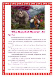 English Worksheet: The Scarlet Flower - II